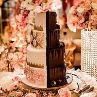 Wedding Cake - Chocolate Meets Elegance