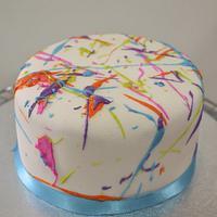 Splattered Cake & Cupcakes