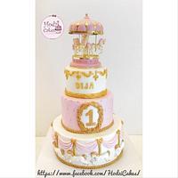 Pink Carousel Cake 💖🤗