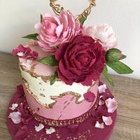 Peony cake