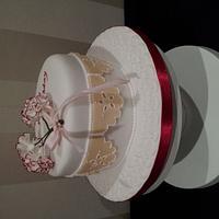 Carnation Birthday cake