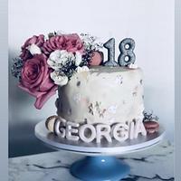 18th Birthday Cake by Sugar by Rachel