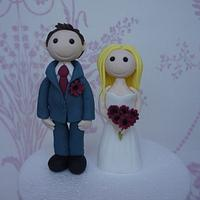 Bride and Groom Cake Toppers by Let's Eat Cake