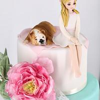 Cake lady And puppy  by Arianna