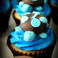 Turtle Cupcakes by Cupcations