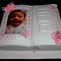 Little Olivia's Christening Cake