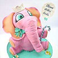 Pink baby elephant by My little cakes