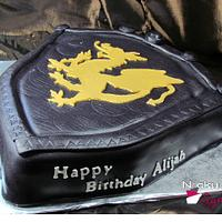 Dragon Shield Cake