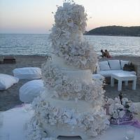 TRUE SWEET ROMANCE.... Wedding Cake on The Greek Coast !