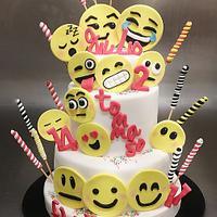 Emoticons cake