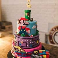 Super Mario Wedding cake 80s party  Michael jackson