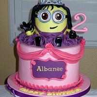 Minion princess cake