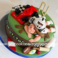 Sports fan birthday cake