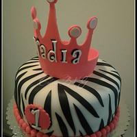 "Princess ""Zebra""  Cake by Laura Barajas"