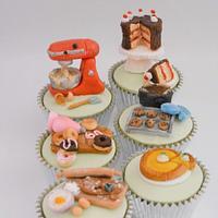 Baking Themed Cupcakes