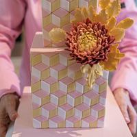 Geometric cake by Lulubelle's Bakes