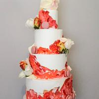 Painted Buttercream Wedding Cake