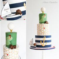 Hobby themed birthday cake