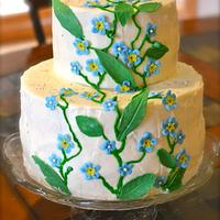 Red Velvet Cheesecake Forget-Me-Not Cake