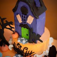 Haunted Halloween Birthday Cake