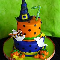 Halloween Birthday Cake!