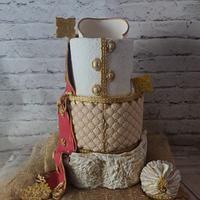 Indian Wedding Dress Cake by Dr RB.Sudha