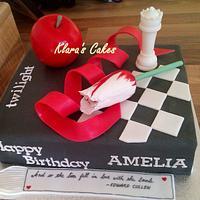 Twilight Book Cake by Klaras Cakes