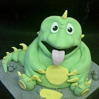3d dinosaur cake