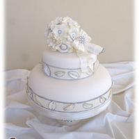 "Wedding cake ""My precious bouquet"""