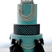 Breakfast at Tiffany's Birthday Cake by Make Fabulous Cakes