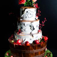 wedding cake nature and autumn