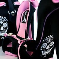 Skull Handbag and shoe by Verusca Walker