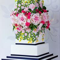 Giambattista Valli Fashion Inspired wedding cake
