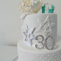Girly winter cake...