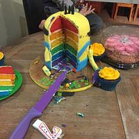 minion Cake rainbow