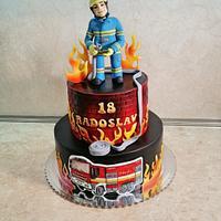 Cake for fireman