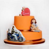 Very nonstandard orange wedding cake