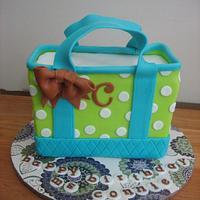 mini tote cake