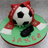 football cake and boot