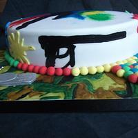 Paintballing inspired cake by Judedude