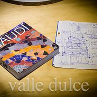 Gaudi inspired wedding cake