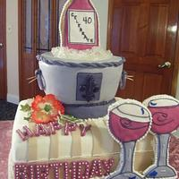 Ice Bucket celebration cake