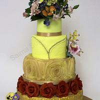 Bright and Bold wedding cake