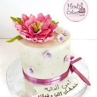 Floral Cake with sugar peony