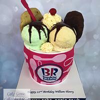 Baskin Robbins Ice Cream Sundae