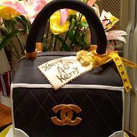 The designer handbag Cake