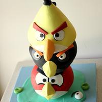 Angry Birds Totem Cake