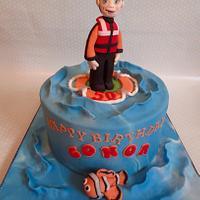 Life Guard 50th Birthday Cake