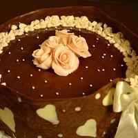 Chocolate collar cake by Smita Maitra (New Delhi Cake Company)
