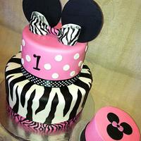 Minnie Mouse Meets Zebra
